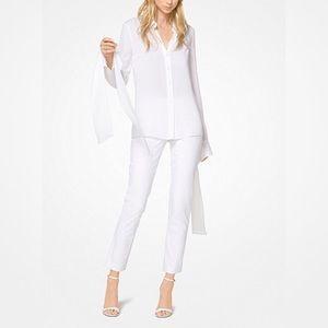 NEW! Michael Kors Stretch Cotton/Linen Trousers